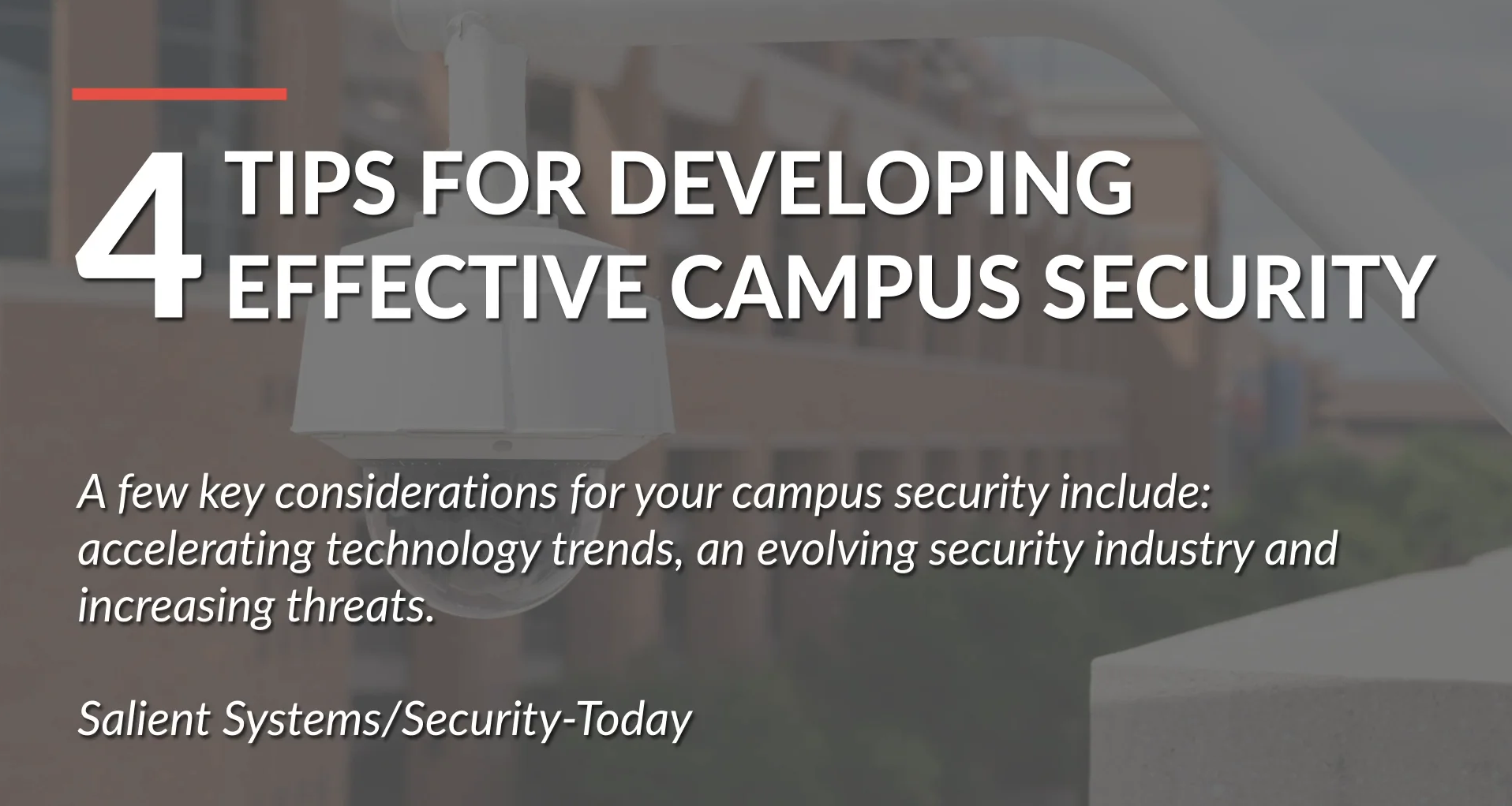 poster image for 4 Tips for Developing Effective Campus Security video