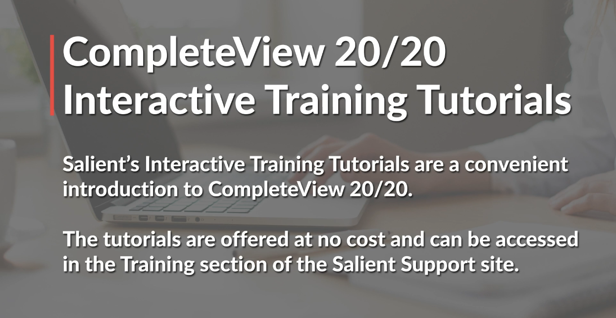 poster image for CompleteView 20/20 Interactive Training Tutorials video