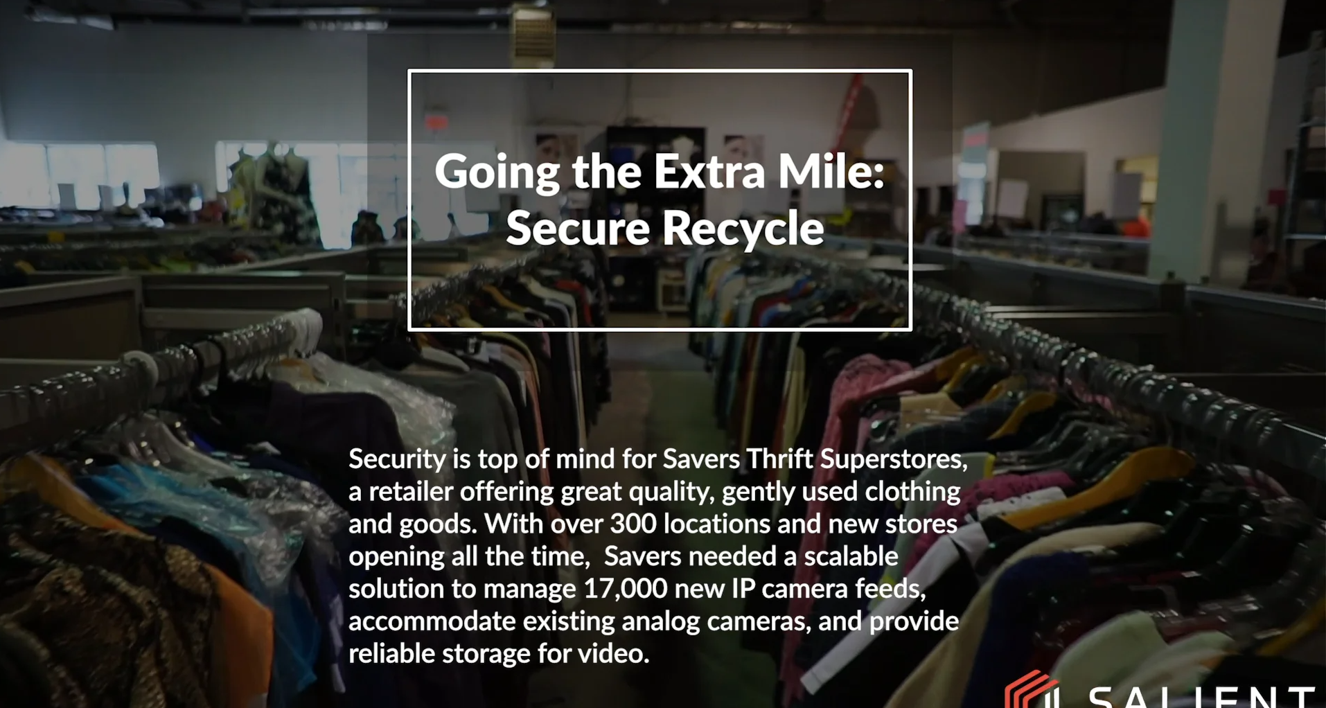 poster image for Going the Extra Mile - Secure Recycle :: Savers Thrift Superstores video