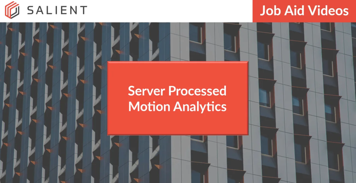poster image for Server Processed Motion Analytics video