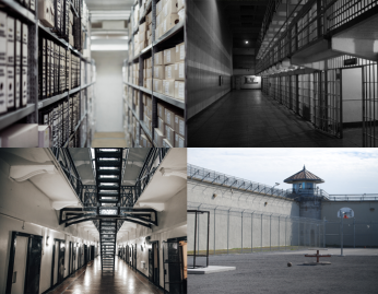 collage of images from correction facilities