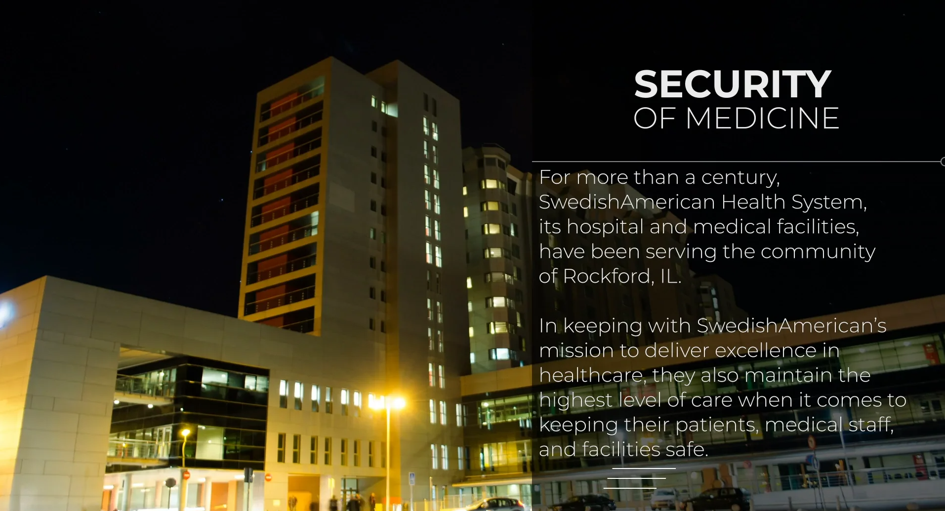 poster image for The Security of Medicine :: SwedishAmerican Health System video